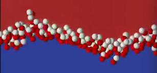Captura de pantalla de una simulación de las fluctuaciones térmicas.