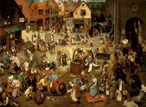 Pieter Brueghel- De strijd tussen Carnaval en Vasten (1559)