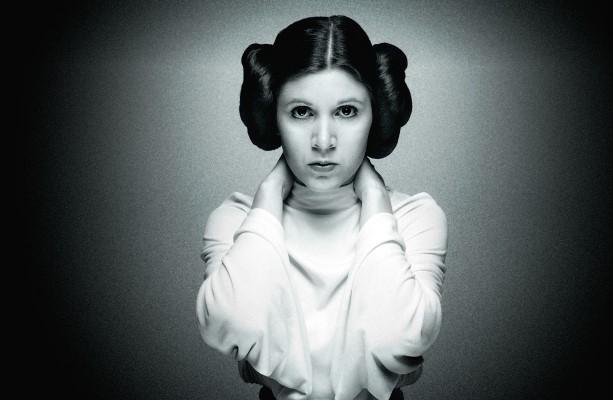 Carrie Fisher y la princesa Leia